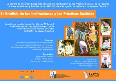 Reunión Científica EL ANÁLISIS DE LAS INSTITUCIONES Y DE LAS PRÁCTICAS SOCIALES