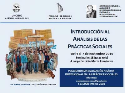 Apertura 2° Cohorte de Especialización Análisis Institucional en las Prácticas Sociales